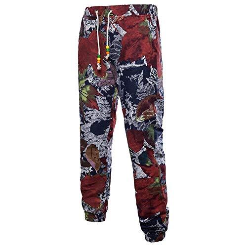 Casual Da Lino In Sportivi Moderna Allenamento 3d Pantaloni Estivi Jogging Lunghi Floreale Stampa Haidean Con xHg8wU4n0q