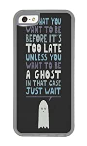 Apple Iphone 5C Case,WENJORS Cute Motivational Speaker Soft Case Protective Shell Cell Phone Cover For Apple Iphone 5C - TPU Transparent