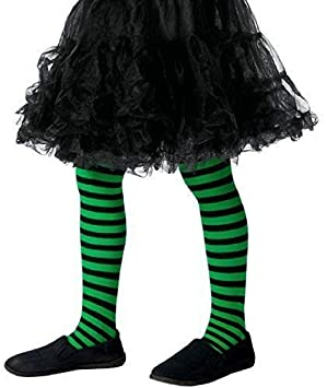 745288b5788b2 Girls Green Black Stripy Wicked Witch Halloween Fancy Dress Costume Outfit  Accessory Tights 8-12: Amazon.co.uk: Toys & Games