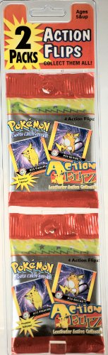 1999 - Nintendo - Pokemon Action Flipz - Lenticular Action Collectibles - 2 Packs / 4 Cards in Each Pack - Premier Edition - New - Mint - Collectible (Pokemon Action Flipz)
