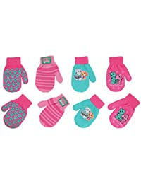 Nickelodeon Paw Patrol 4 Pair Acrylic Gloves or Mittens Cold Weather Set, Little Girls, Age 2-7 (4 Pair Mittens Design Set - Age 2-4)