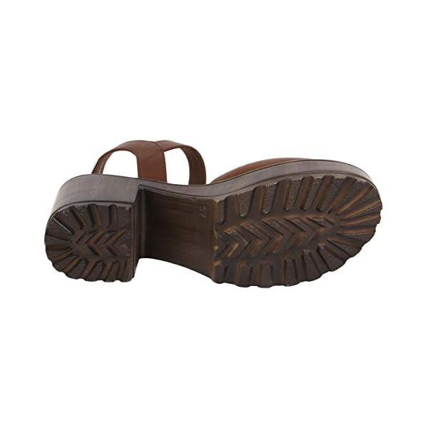 Catwalk Women's Brown Block Heel Sandals Fashion