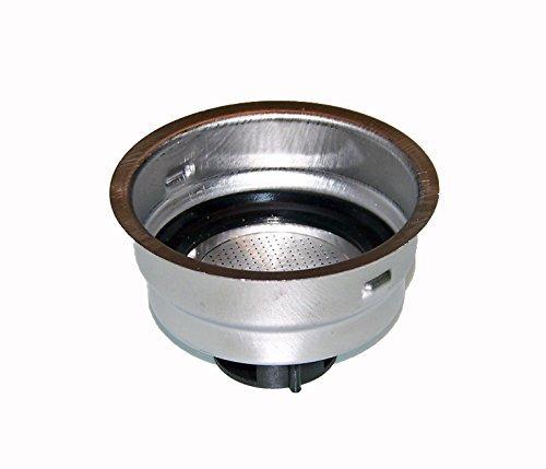 Delonghi 2 Cup Filter Assembly - For Models DES023, ECO310BK, EC155, DES024 (Delonghi Filter 2 Cup)