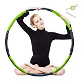 Best Hula Hoops For Adults - Hula Hoop 2lb, Weighted Exercise Hula Hoop Review