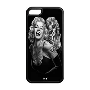 Mystic Zone Custom Marilyn Monroe iPhone 5C Back Cover Case for Apple iPhone 5C -(Black and White) -MZ5C00104