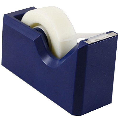 JAM PAPER Colorful Desk Tape Dispensers - Navy Blue - Sold Individually