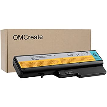 OMCreate Battery Compatible with Lenovo IdeaPad G460 G560 Z460 Z560 Z565, fits L09S6Y02 L09M6Y02 57Y6454 L09C6Y02 L10P6Y22 LO9S6Y02-12 Months Warranty ...