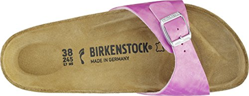 Birkenstock Madrid Birko-flor - Mules Mujer Shiny Check Rose
