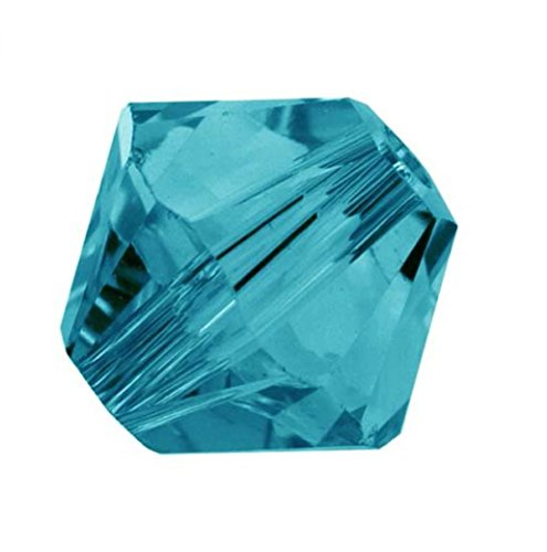 20pcs x Authentic 6mm Swarovski #5328 Xillion Bicone Crystal Beads (Indicolite) #SWA-b653