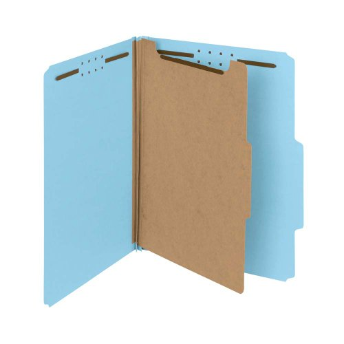 Smead 100% Recycled Pressboard Classification File Folder, 1 Divider, 2