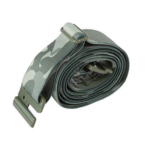 Adjustable Stretch Belt: No Show Flat Buckle, Non-Slip Backing (Camo)
