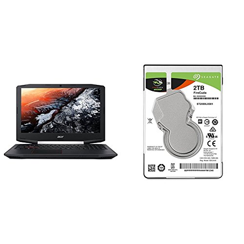 Acer Aspire VX 15 Gaming Laptop (VX5-591G-75RM) with Seagate 2TB FireCuda Gaming SSHD Drive Bundle
