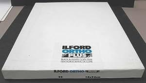Ilford Ortho Plus Copia Cine 18 x 24 cm / 1 Caja de 25 hojas / Blanco y Negro