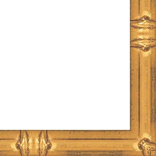 9x12 Solid Gold Bamboo Style Wood Frame - Great for Posters, Photos, Art Prints, Mirror, Chalk Boards, Cork Boards and Marker Boards ()