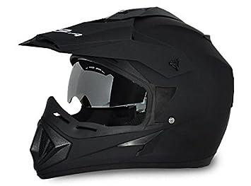 Vega Off Road OR-D/V-DK_M Motocross Helmet (Dull Black, M)