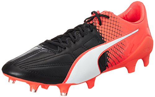 Puma Evospeed 1.5 Lth FG Scarpa da Calcio Nero (Puma Black White-red Blast 01)