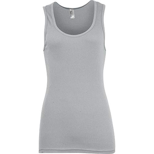 Top ladies Heathergrey 2x1 Classic Womens Apparel American 100 Tank Cotton Zpf8q