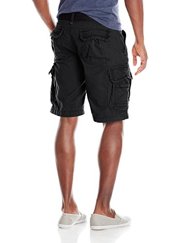Unionbay Men's Survivor Belted Cargo Short, Black, 34