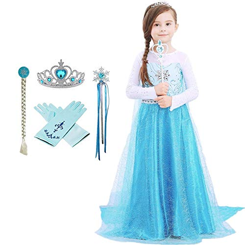 Domiray Inspired Frozen Elsa Princess Dress