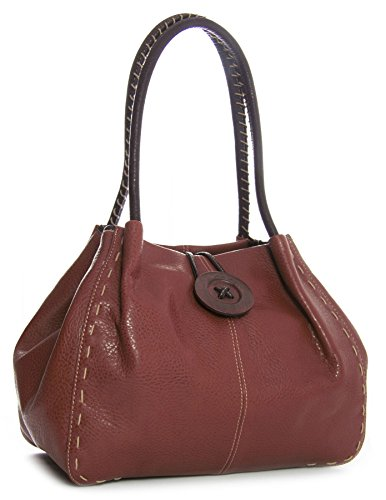 Big Handbag Shop - Synthetic Shoulder Bag For One Woman Z * (pu Grade 2) - Copper Brown