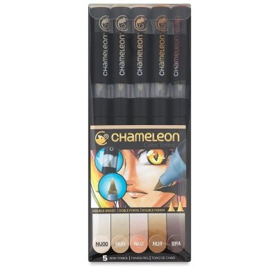 Chameleon Art Products Skin Tones, 5-Pen - Tone Colors Skin And