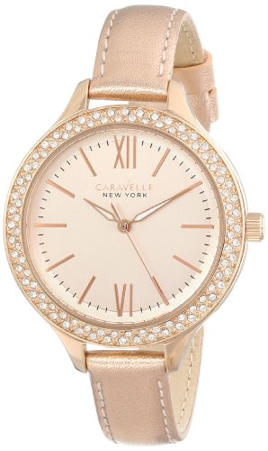 Caravelle New York Women's 44L132  Japanese Quartz Rose-Gold Watch