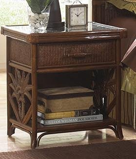 Cancun Palm 1 Drawer Nightstand