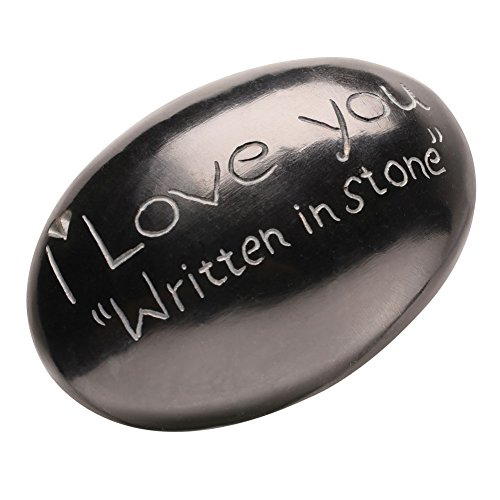 Love Stone Plaque - I Love You Written in Stone - Cute and Funny Collectable Gift Stone