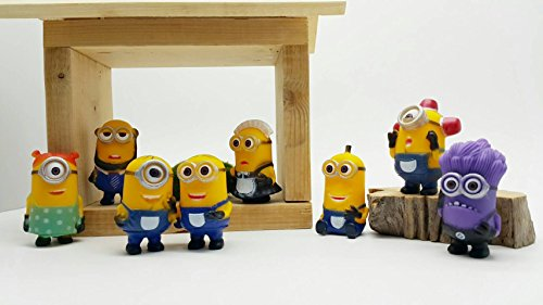 8pcs/lot Mini Minion Figures Toys Despicable Me PVC Action Figures Toys Anime Figurines Model Toy Gift for Kids