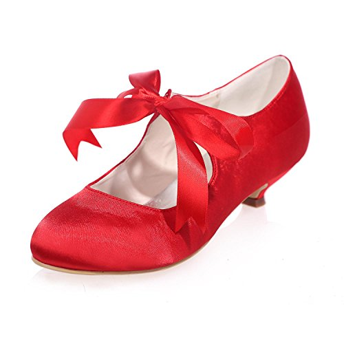 L@YC Zapatos De Boda De Mujer Bombas De Seda Media / Fiesta / Noche De Fiesta Y MáS Colores 9001-05 Red