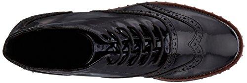 Marco Tozzi Damen 25258 Combat Boots Schwarz (Black Patent)