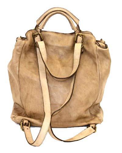 BZNA Bag Rob grå ryggsäck designer ryggsäck damhandväska axelväska läder Nappa sheep ItalyNy