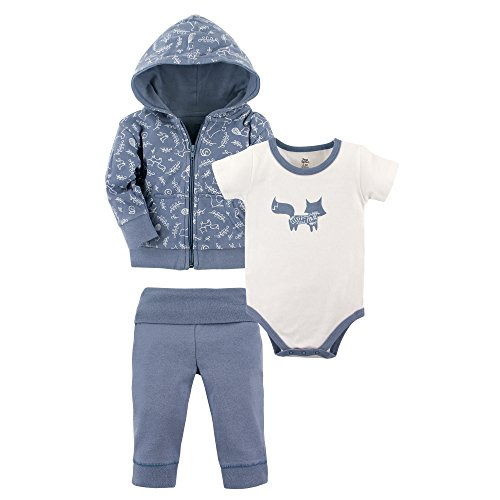 Yoga Sprout Baby 3 Piece Jacket, Top and Pant Set, Clever Fox, 6-9 Months (9M)