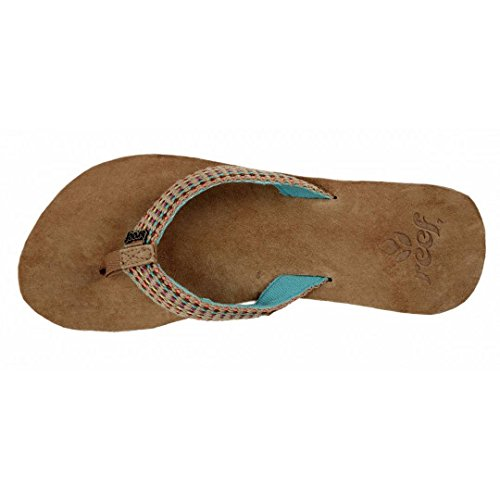1ebddc920 Reef Gypsylove Womens Leather Flip Flops Teal