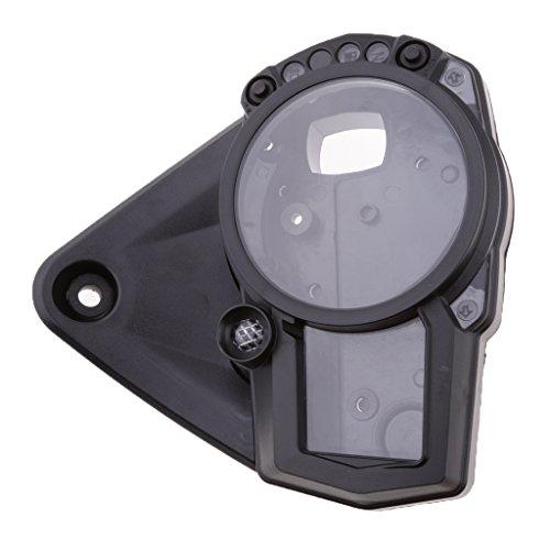 Black Plastic Case Cover sharplace Bike Speedometer Speedometer: