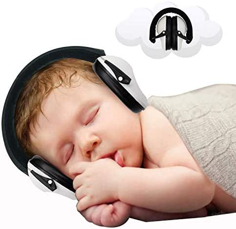 Baby Ear Protection - Noise Canceling Muffs for Babies Infant Tots Toddler Child - Kids Hearing Protection Earmuffs - Sound Proof Noise Canceling Headphones - Ages Newborn to 3 Years - White