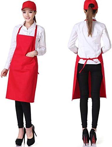 per Uomini e Donne ristoranti Senza Maniche Negozi Resistente Grembiule a Tinta Unita DANMEI Cucina e Barbecue casa per Cameriere