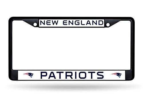 (Rico New England Patriots NFL Black Metal License Plate Frame)