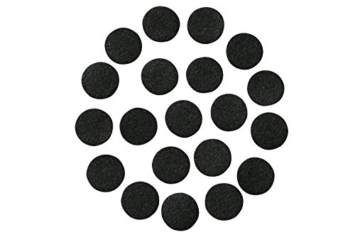 [Black Adhesive Felt Circles; 1