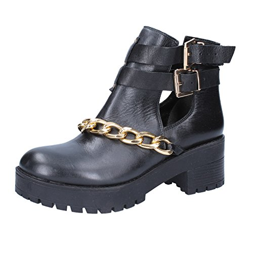 Leather Inuovo Ankle Womens Boots Black x0IqYI7R