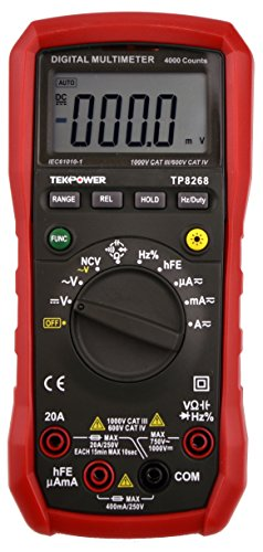 Tekpower TP8268 AC/DC Auto/Manual Range Digital Multimeter with NCV Feature, Mastech MS8268 Upgraded, -