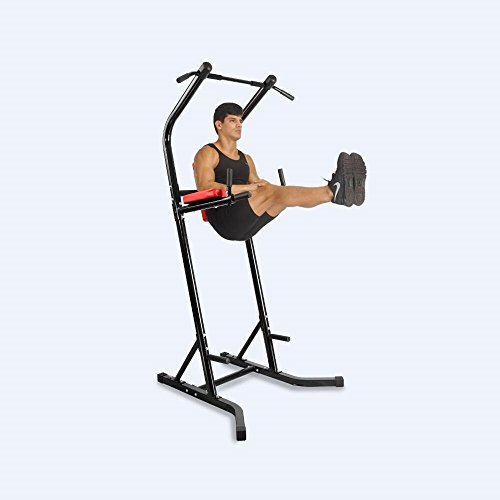 Sports Equipment Power Tower Pull Up Bar Standing Tower,Body Champ Fitness Multi function Power Tower / Multi station for Home Office Gym Dip Stands Pull Up Space Saving, BLACK,Crystal Fit SJ-600 by Acando (Image #7)