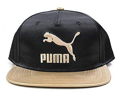 site réputé dfdc1 55ddc Puma - Casquette de Baseball - Femme Noir Noir/doré Taille ...