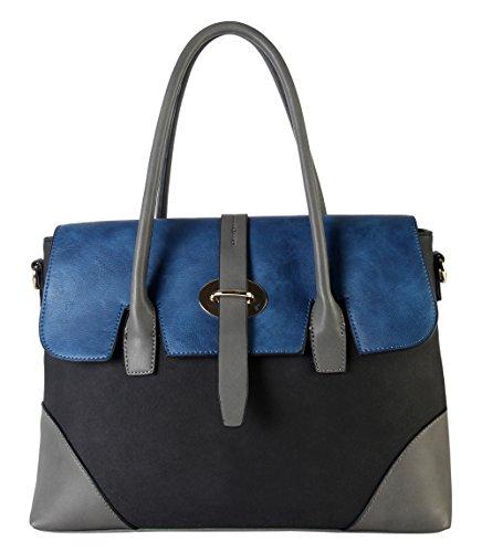 diophy-pu-leather-three-tone-zipper-closure-bayswater-womens-purse-shoulder-handbag-cl-3501-black
