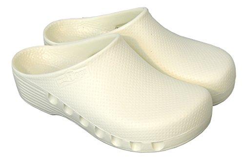 42W à Mediplogs 60 Medimex WSAM le Taille Degré Côté Perforés Lavable Blanc sur Sabot Antistatique 42 aqSwH5