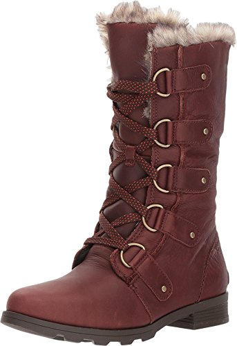 SOREL - Women's Emelie Lace Premium Non Shell Boot, Size: 6 B(M) US, Color: Cordovan/Major