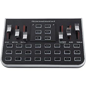 Amazon.com: External Sound Cards, USB Portable Live Sound ...