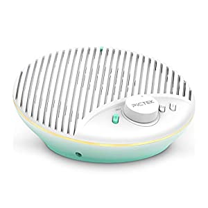PICTEK White Noise Machine with Night Light for Baby Sleeping, 10 White Noise and Fan Sound Machine, Auto-off Timer & Memory Feature, Dimmable Warm Night Light for Baby Nursery, Office Privacy, Travel
