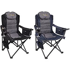 Oztrail Big Boy Folding Camping Picnic Arm Chair - Pack 2
