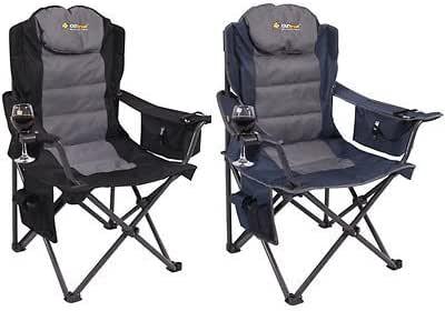 Oztrail Big Boy Folding Camping Picnic Arm Chair - Pack 2